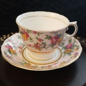 Vintage Colclough Pink Tea Cup Set